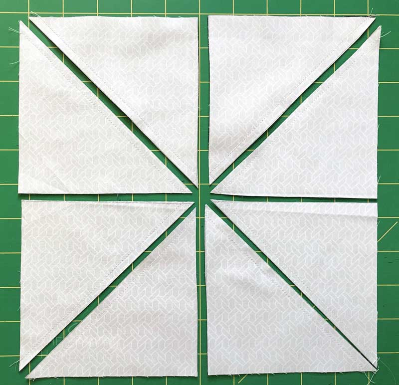How to Make Half Square Triangles using the Magic Eight Method