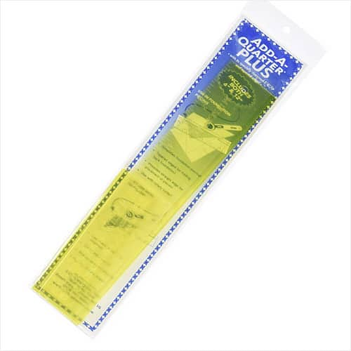 "Add-A-Quarter Plus Ruler 6"" & 12"""