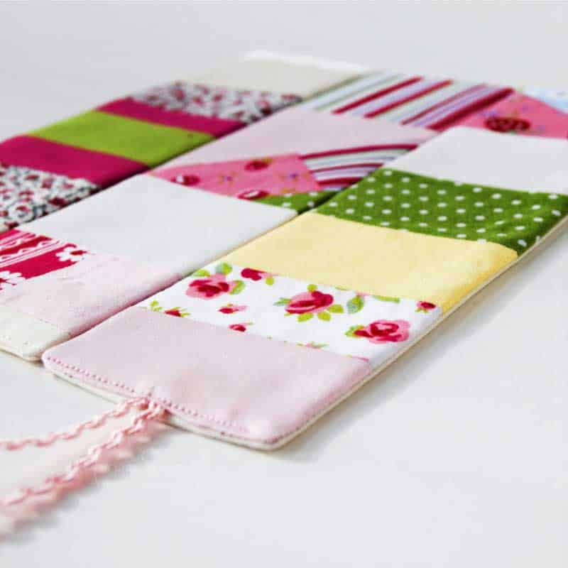How To Sew a Patchwork Bookmark using fabric Scraps.