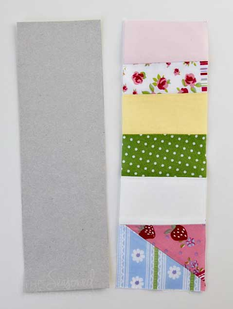 How To Sew A Bookmark using a cardboard template