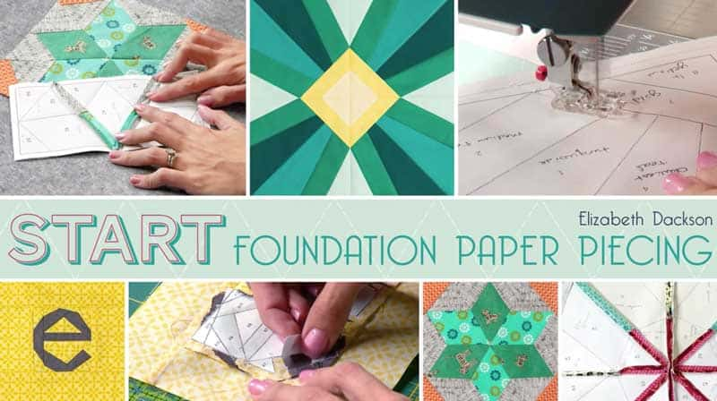 Foundation Paper Piecing Craftsy Cover Page