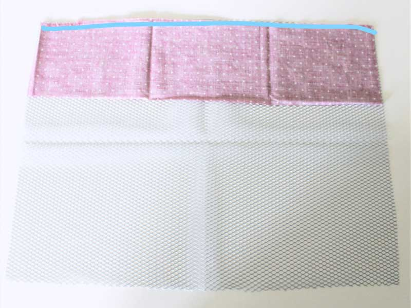 "Stitch the two layers together with a 1/4"" seam allowance."