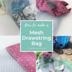 How to Sew a Drawstring Mesh Bag - Main image