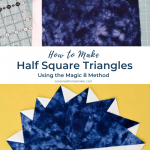 Magic 8 Half Square Triangles