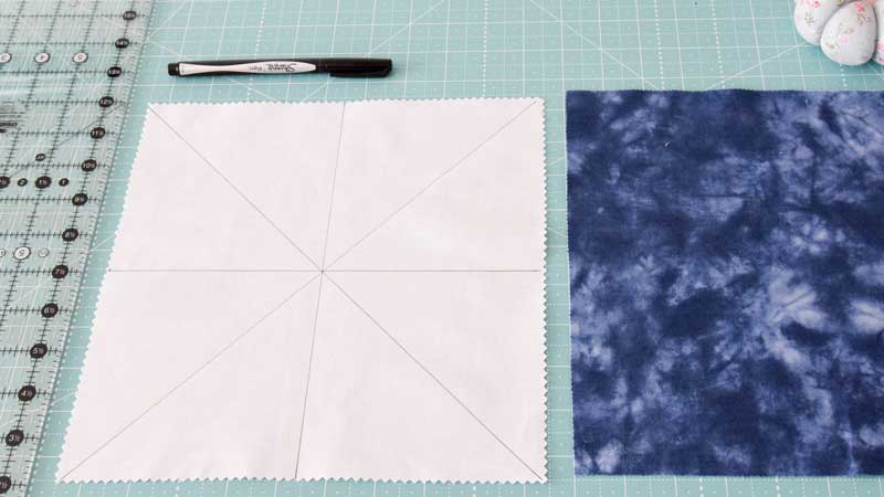 How to Make Half Square Triangles using the Magic 8 Method