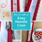 How to make a Felt Needle Case Pinnable Image