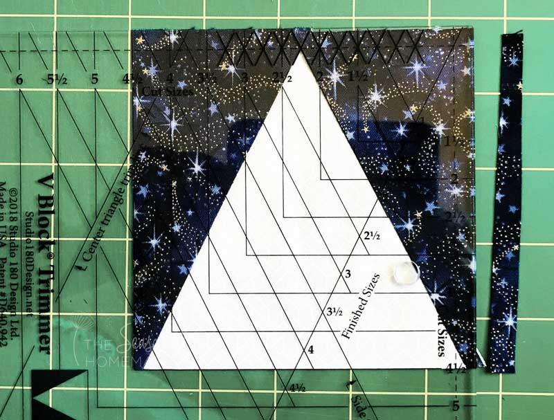 How to Make a Triangle in a Square Block