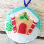 Gingerbread Felt Christmas Ornament