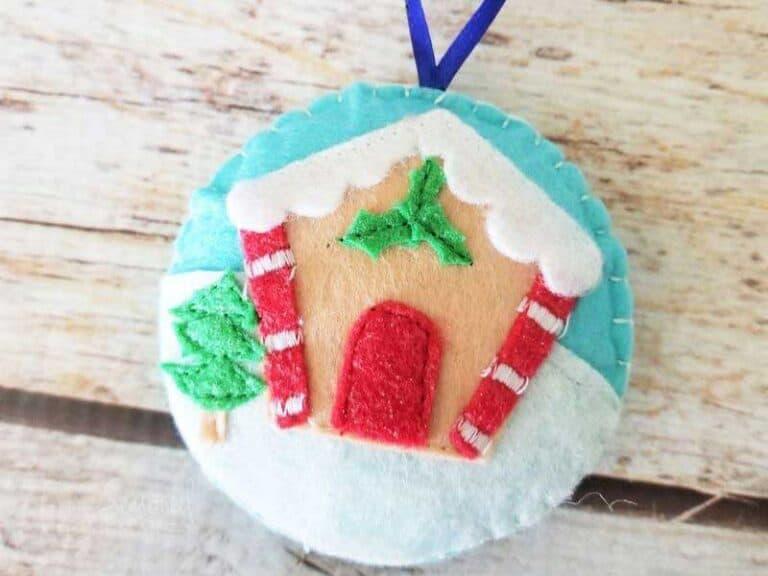 Gingerbread Felt Christmas Ornament Pattern