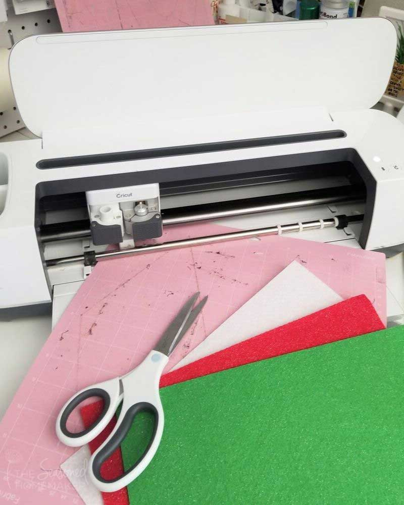 Gather Cricut Materials for cutting ornament