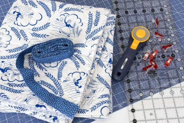 Supply list for Beginners Guide To Machine Binding A Quilt