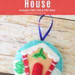 Gingerbread Felt Christmas Ornament Pattern - Pin image
