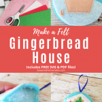 Gingerbread Felt Christmas Ornament Pattern - step out pins