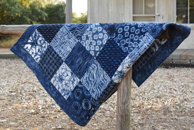 Finished Quilt - How to Make an Easy Patchwork Quilt