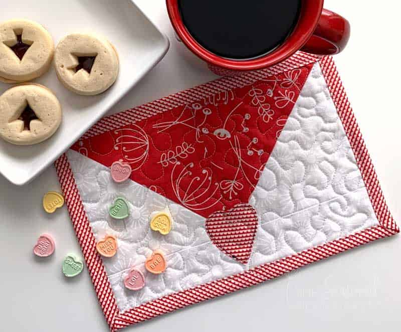 Valentine's Envelope Mug Rug Tutorial
