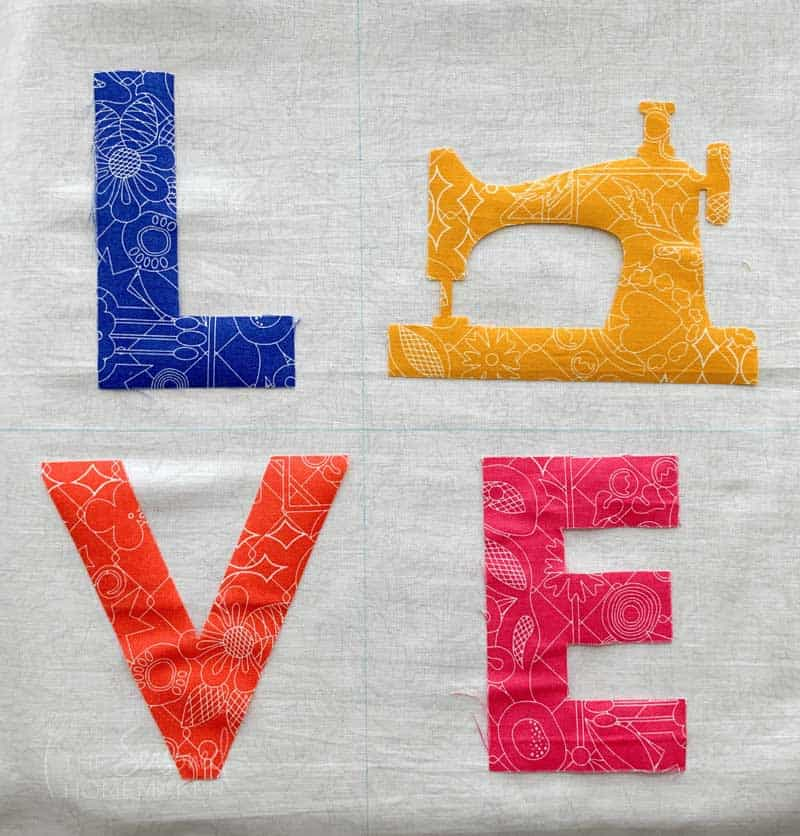 How to Make a LOVE Mini Quilt