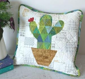 Quilted Cactus Pillow Tutorial