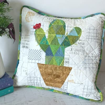 Quilted Cactus Pillow Tutorial