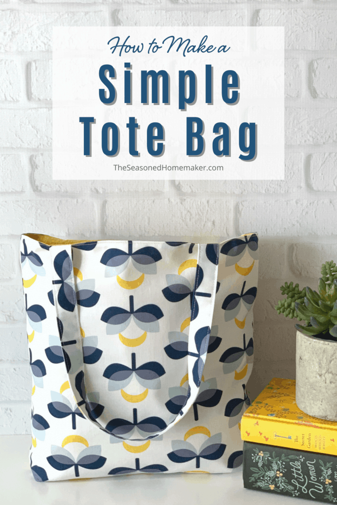Finished Simple Tote Bag Tutorial