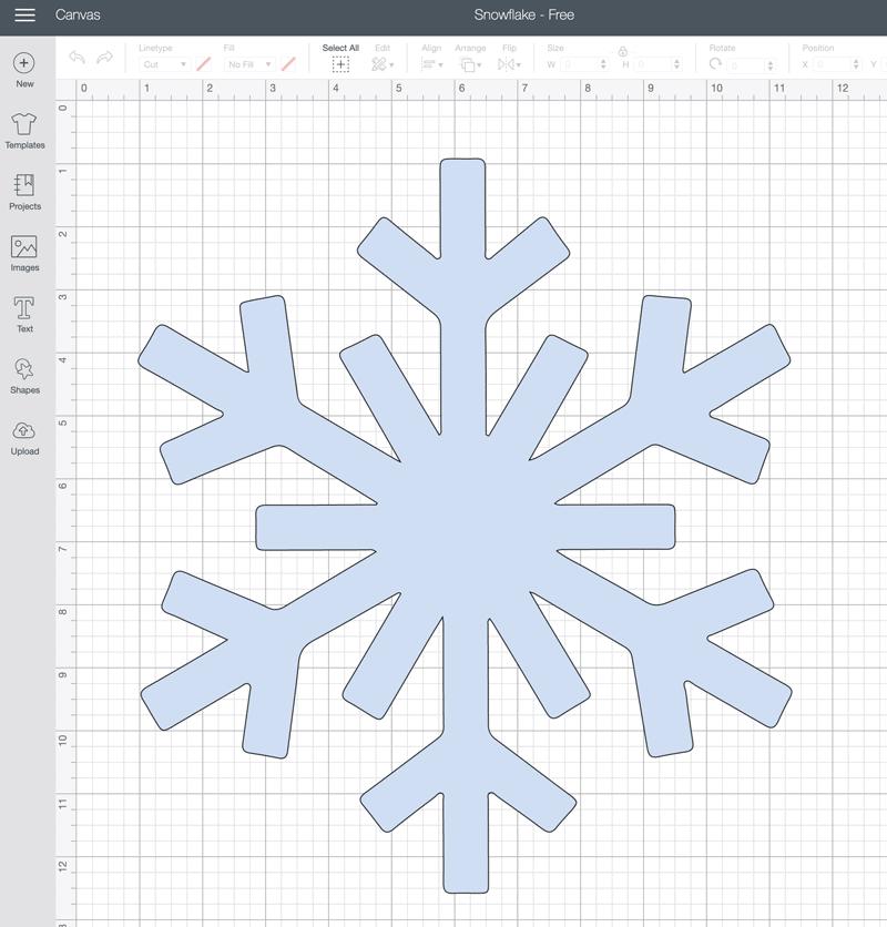 Cricut Design Snowflake Image