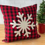Snowflake Applique Christmas Pillow