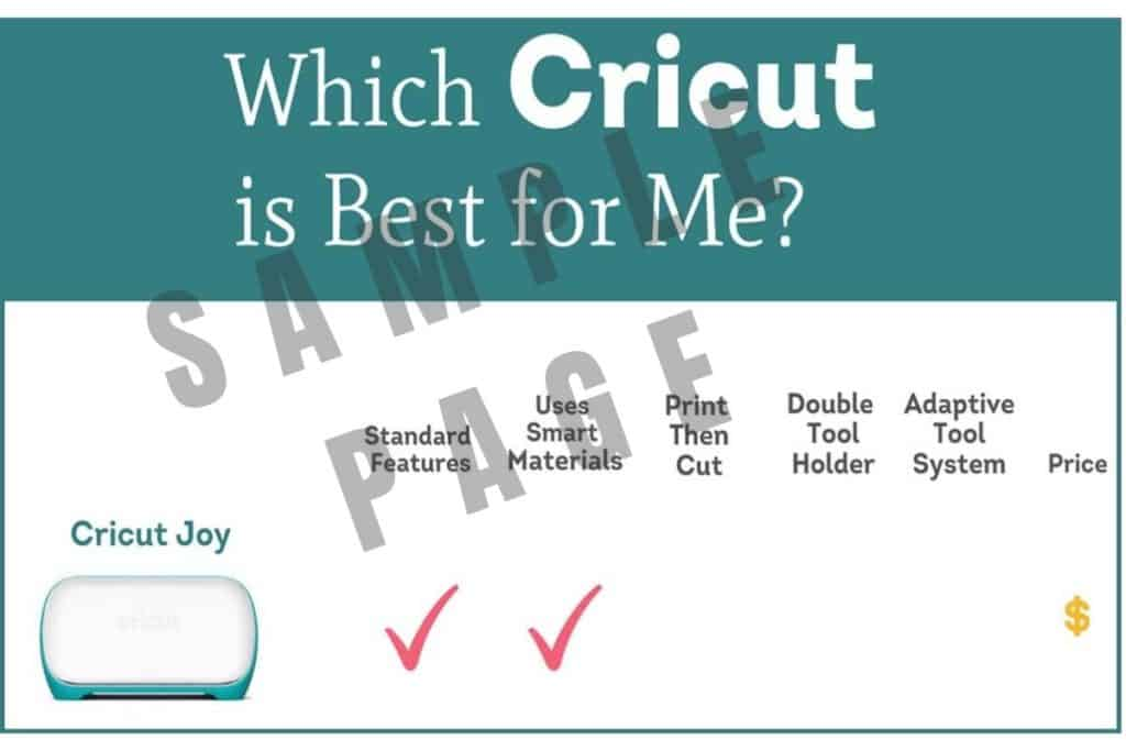 Which Cricut is Best for Me? Sample