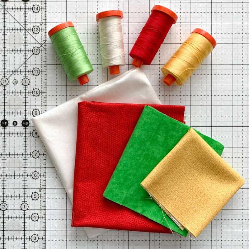 DIY Christmas Pennant Banner Tutorial Supplies