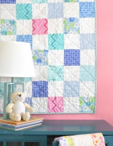 The Ultimate Beginner's Baby Quilt Tutorial Finished Quilt