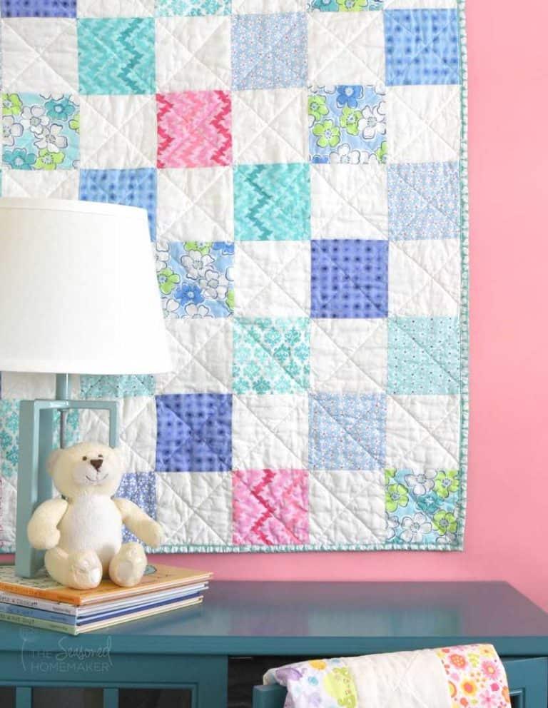 The Ultimate Beginner's Baby Quilt Tutorial