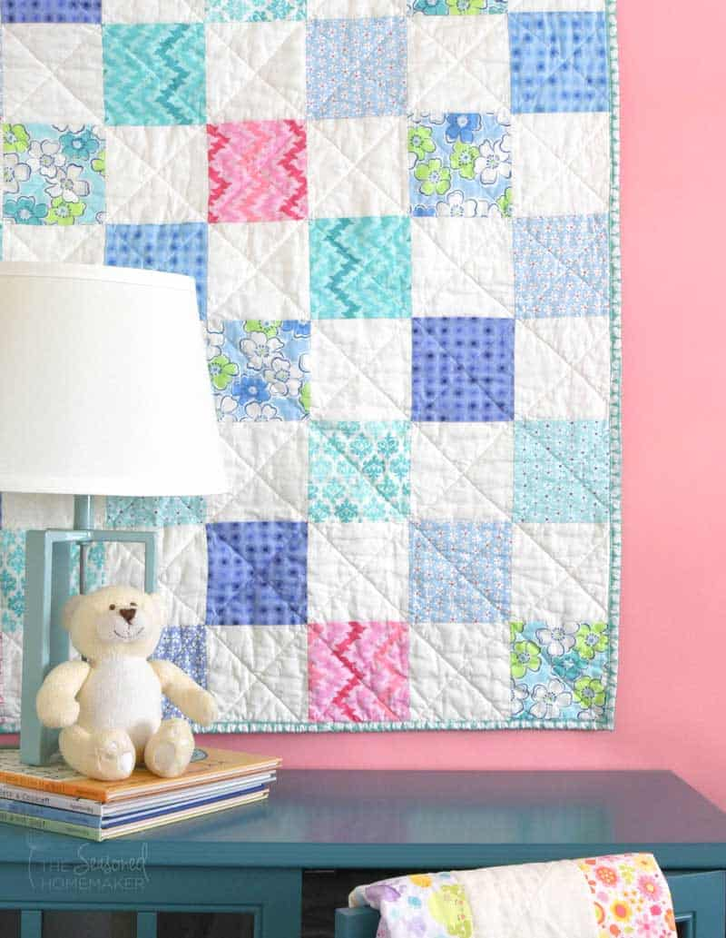 The Ultimate Charm Pack Baby Quilt Tutorial Finished Quilt