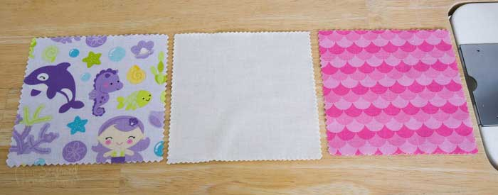 charm squares ready to sew
