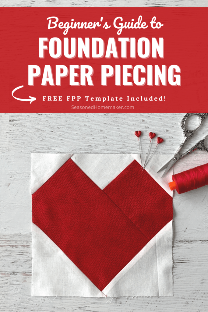 Beginner Foundation Paper Piecing Pin