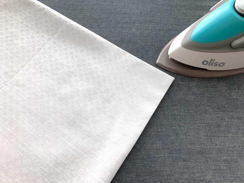 folded background fabric