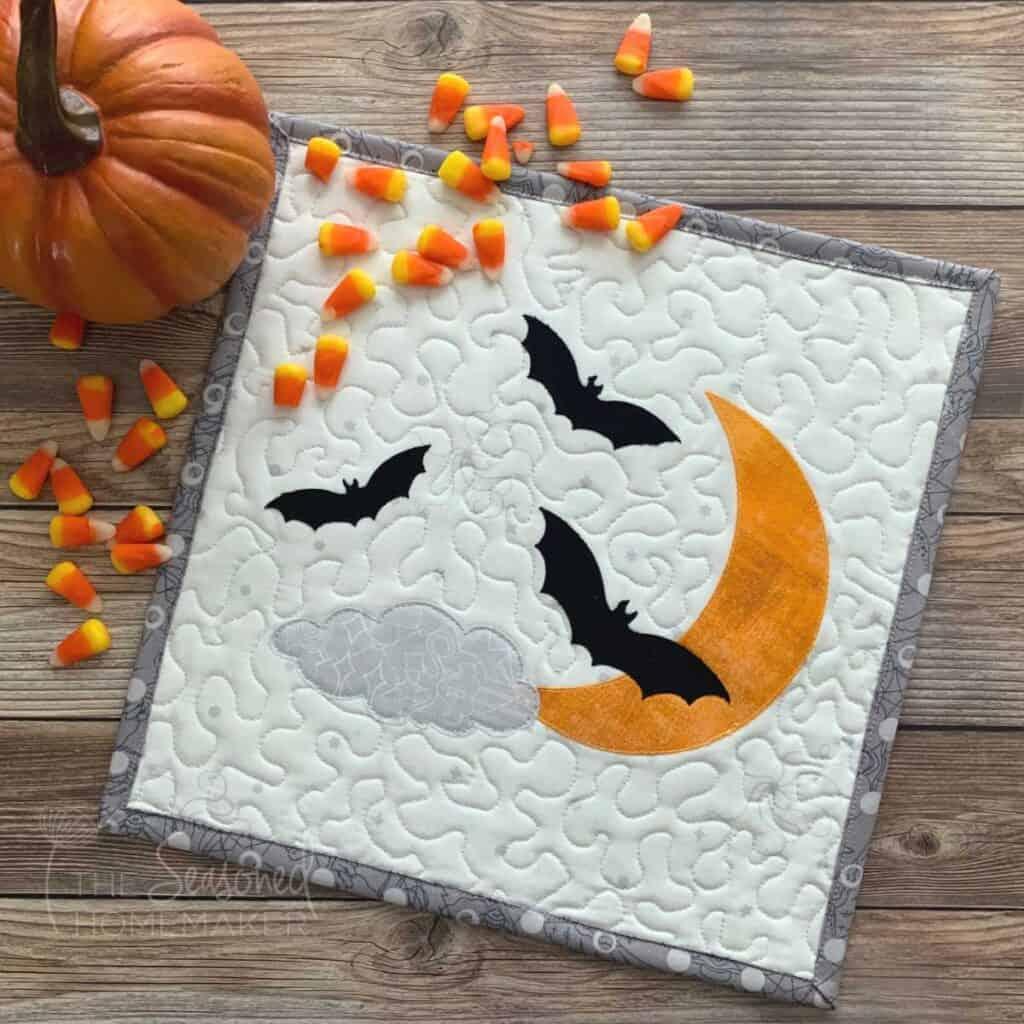 Halloween Bat Mini Quilt