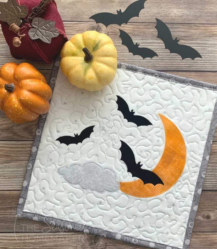 Halloween Bats Mini Quilt
