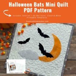 Halloween Bats Applique Set