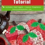How to Sew Quilted Apple Coasters