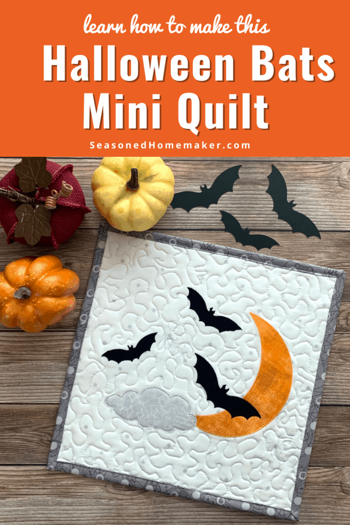 Halloween Bats Mini Quilt Tutorial